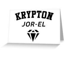 Krypton Jor-EL Greeting Card