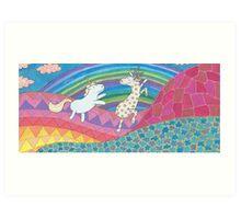 Flight in Psychedelia Art Print
