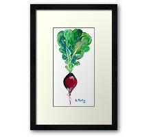 Ode to the Vegetable: Radish Framed Print