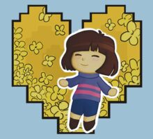 Frisk in Golden Flowers Kids Tee