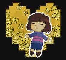Frisk in Golden Flowers Baby Tee