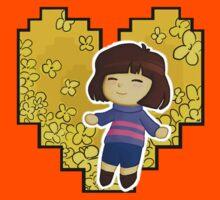 Frisk in Golden Flowers Kids Tee