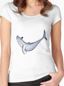 Classy Mr. Whale (in a Top Hat) Women's Fitted Scoop T-Shirt
