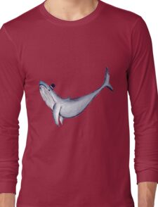 Classy Mr. Whale (in a Top Hat) Long Sleeve T-Shirt