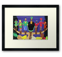 The Nguzo Saba  (7 Principles of Kwanzza) Framed Print