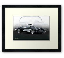 02 1958 Chevrolet Corvette Framed Print