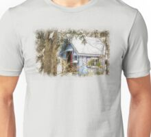 Frosted gingerbread shed Unisex T-Shirt