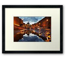 San Peter reflection at sunset Framed Print