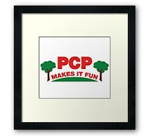PCP Makes It Fun Leslie Knope Funny Design Framed Print