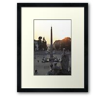 Piazza del Popolo Sunset Framed Print