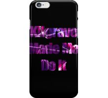 Kilgrave Made Me Do It - text black iPhone Case/Skin
