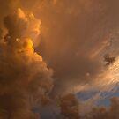 Storm Clouds Sunset - Dramatic Oranges by Georgia Mizuleva
