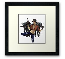 Zombie Killer Pin Up Framed Print