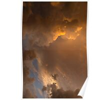 Storm Clouds Sunset - Dramatic Oranges - a Vertical View Poster
