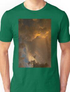 Storm Clouds Sunset - Dramatic Oranges - a Vertical View Unisex T-Shirt