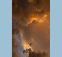 Storm Clouds Sunset - Dramatic Oranges - a Vertical View T-Shirt