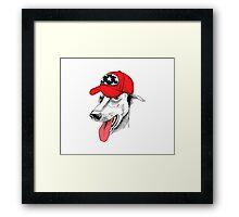 hipster dog #2 Framed Print