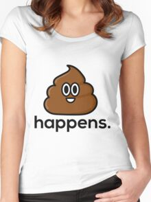 S*** Happens Women's Fitted Scoop T-Shirt
