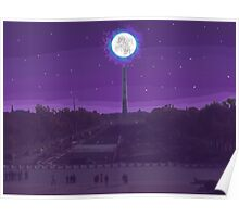 Moon Over Washington Poster