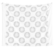 Geometric seamless pattern with abstract circles gradation  Wall Tapestry