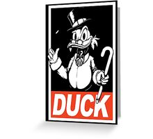Daffy Duck ( Obey / Duck )  Greeting Card
