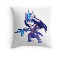 Snowstorm Sivir Throw Pillow