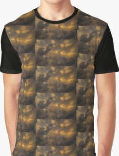 Storm Clouds Sunset - Ominous Grays and Yellows Graphic T-Shirt