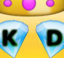 Kappa Delta Emoji Crown Diamond Sticker