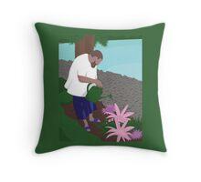 DJ Khaled watering plants Throw Pillow