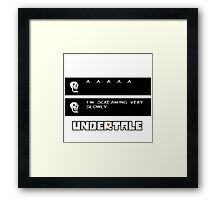 ❤ ♥ Undertale Papyrus Funny ♥ ❤ Framed Print