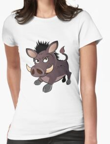 funny boar Womens Fitted T-Shirt