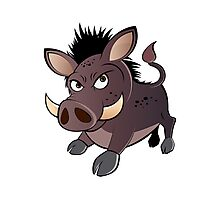 funny boar Photographic Print