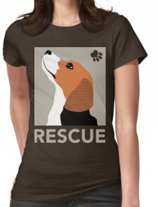 Rescue (Beagle) Womens Fitted T-Shirt