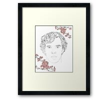 Benedict Cumberbatch ft. blossoms Framed Print