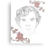 Benedict Cumberbatch ft. blossoms Metal Print
