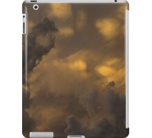 Storm Clouds Sunset - Ominous Grays and Yellows iPad Case/Skin
