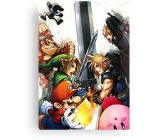 super smash bros link cloud mario kirby DK Canvas Print