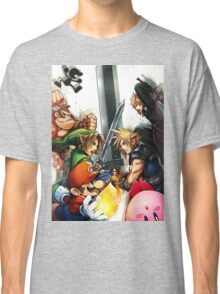 super smash bros link cloud mario kirby DK Classic T-Shirt