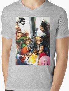 super smash bros link cloud mario kirby DK Mens V-Neck T-Shirt