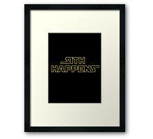 Sith Happens - Star Wars Framed Print