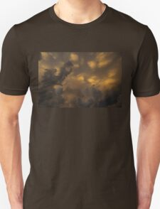 Storm Clouds Sunset - Ominous Grays and Yellows Unisex T-Shirt