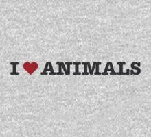 I Love Animals One Piece - Long Sleeve