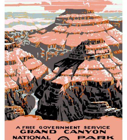 Vintage poster - Grand Canyon Sticker
