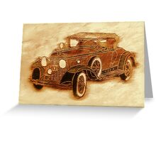 1930 Cadillac Greeting Card