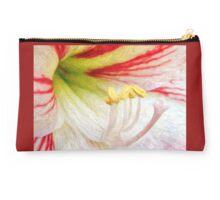 Amaryllis Macro in Colored Pencil Studio Pouch