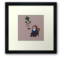 What has Old MacDonald been smoking lately? Framed Print