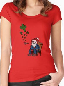 What has Old MacDonald been smoking lately? Women's Fitted Scoop T-Shirt