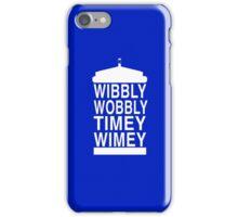 Wibbly Wobbly Timey Wimey - Doctor Who iPhone Case/Skin