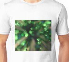 Green Sparkle Burst Unisex T-Shirt