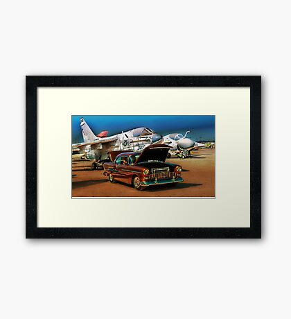 Chevy Bel Air and Military Planes Framed Print